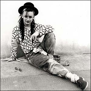 Boy George during happier times.